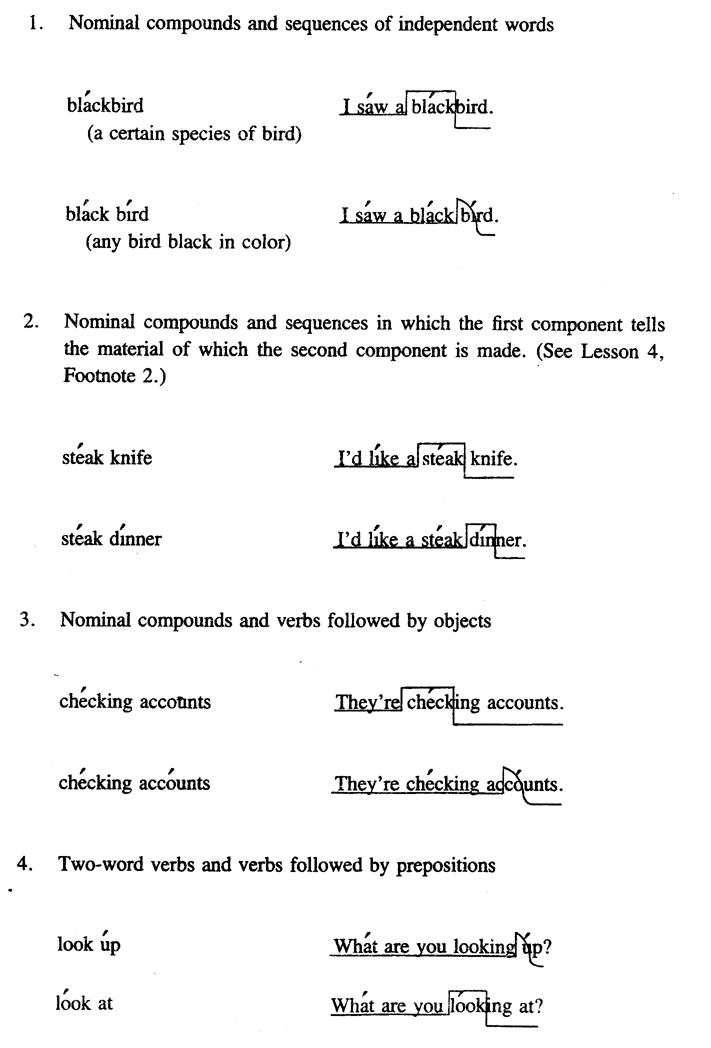 examples of rising and falling intonation sentences